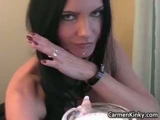 Kinky Carmen Is Collecting Spit So She Part4