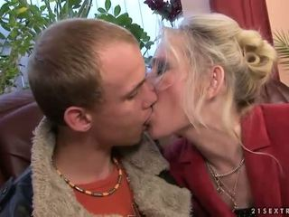 Granny fucking with her young boyfriend