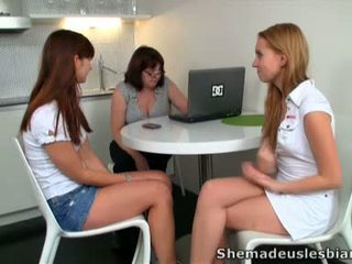 Vanda And Her Buddy Pet Their Lewd Teacher.