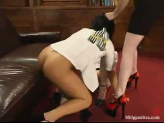 caning gepost, over de knie spanking, mooi whipping vid