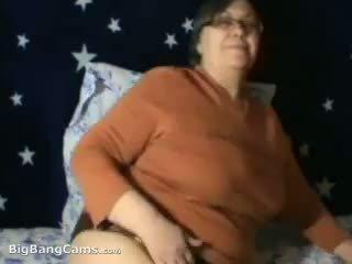 webcam, grand-mère, mamie