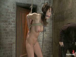 Girl Next Door Is Overwhelmed From The Orgasms We Rip From Her Aidless Body<br>brutal Rope Bondage!