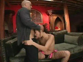 Katsumi shaged enormt i erotiska bald bäver efter fantastiskt cocksuck