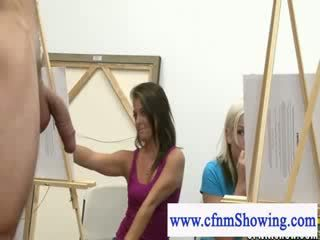 Cfnm get close with models during artclass