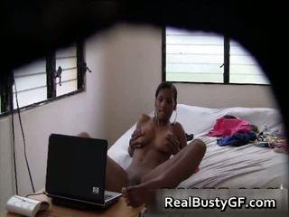 Hot Big Boobs Latina Caught