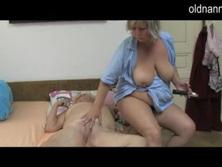 Oldnanny fat mature massage old granny