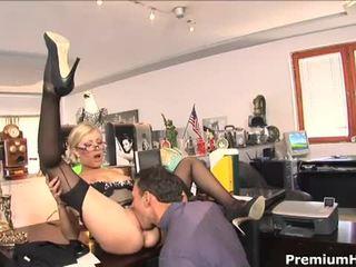 Office slut donna bell gets rammed