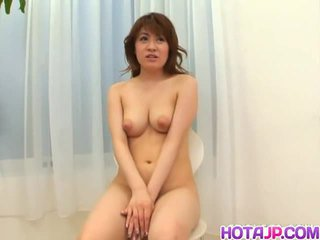 Japanese slut kaori enjoys playing with a cock.