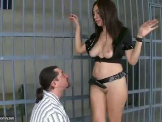 Hard lesbian sex in the jail