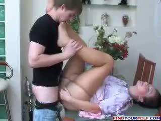 Російська мама і син колготки фетиш секс