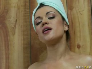 In A Sauna With With Two Horny Lesbian Teens Video