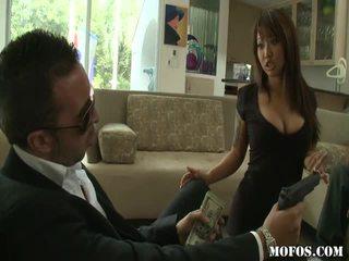 ideaal hardcore sex porno, pijpen scène, heet zuig- kanaal