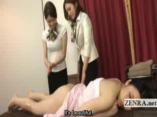 Subtitled warga jepun lesbian punggung minyak urut latihan