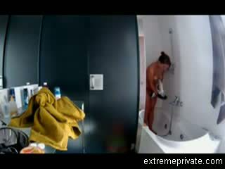 Spying my aunt Bianca in the bathroom Video