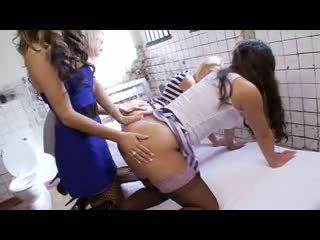 British lesbian foursome in prison Video