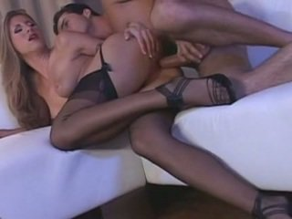 Long legged Euro beauty in lingerie gets fucked