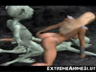 Aliens bang a ทรีดี เจ้าหญิง!