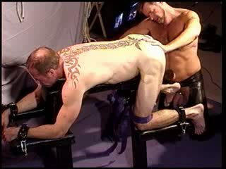 CBT busting my bud's balls with a mallet and fingering his hot hole.