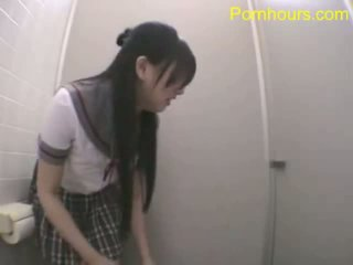 亚洲人 学生 他妈的 在 公 厕所