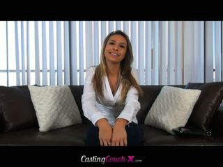 Casting Couch X: Newbie Carmen Caliente facialized at her casting