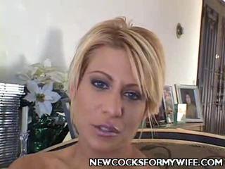 hoorndrager porno, kwaliteit mengen scène, mooi wife fuck