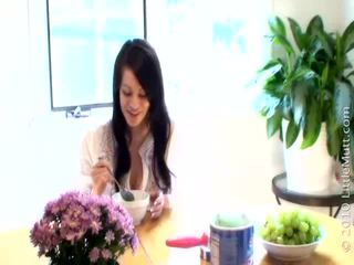 echt brunette video-, meloenen vid, groot speelgoed