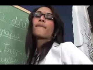 Hot small tits TS teacher