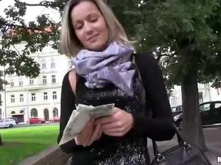 Horny Czech girl banged in public place
