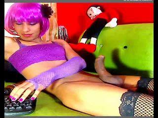 webcam, crossdresser neuken, alle ruk klem