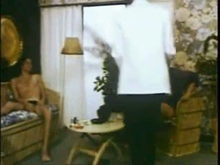 trio video-, wijnoogst kanaal, interraciale neuken
