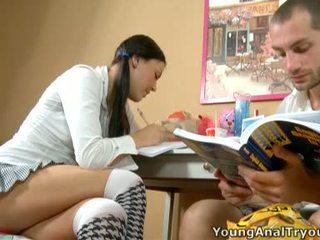 Sexy Rosalina Helps Her Learner Beside Boner.