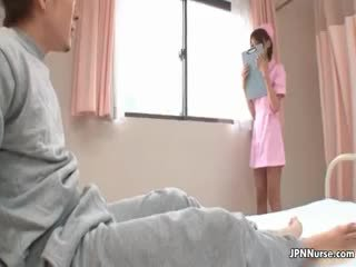 Cute Asian Nurse Gets Horny Showing Off