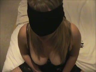 Hot Blindfolded Blowjob
