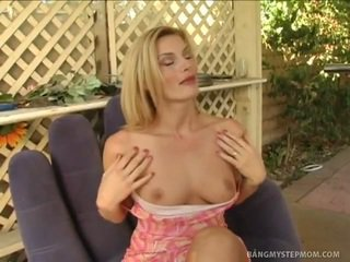 Sleaze Blonde Stepmom Adopts Willy's Dong