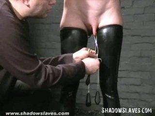 een caning, gemaskerd, ideaal slavin video-