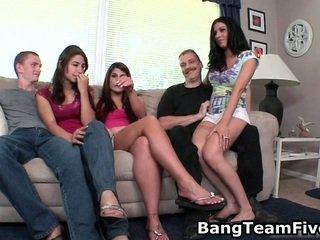 hardcore sex, mooi groepsseks porno, anale sex video-