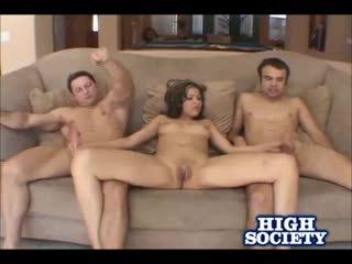 Hot Latina Celina Cross Threesome Banging