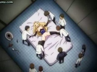 Tied Up Anime Blonde Squirting