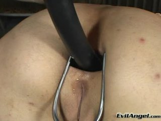 Gal Scout Hostage!dominatrix Puts Three Toys Simultaneously In!