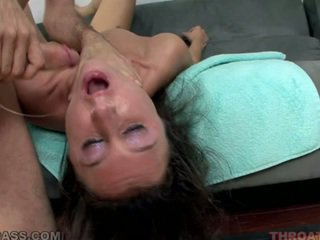 Lina Cole Is Young And Used By James Deen As A Deepthroater