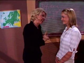Jasmine Lynn and Sharon Kane in school