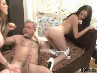 Black Angelica Suck The Cock With Her Naughty Mom