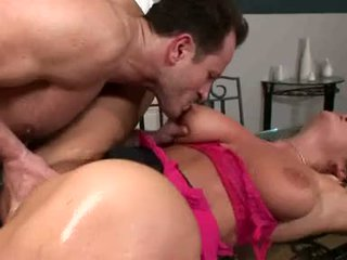 Breasty christina jolie acquires her soaking öl twat rammed with stiff hard sik