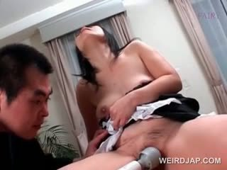 Kinky Mature Asian Maid Gets Hairy Snatch Vibrated