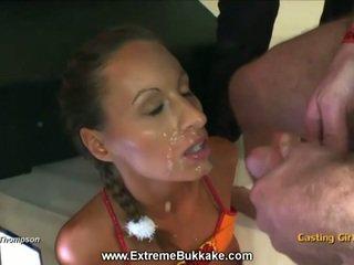 brunette, cumshots porn, fresh babe thumbnail