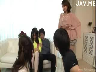 japanisch, gruppen-sex, blowjob