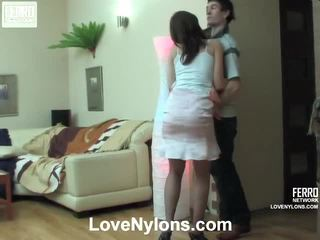 Jaclyn And Vitas Ardent Stockings Video Activity