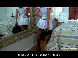 Horny dominant brunette Kendra Lust kidnaps her celebrity crush
