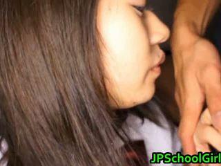 Group Of Japanese Schoolgirls Get Sex Lesson