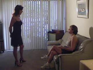 kwaliteit lesbiennes film, femdom, meest spanking porno
